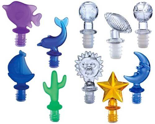 Bottle stoppers.  Give a bottle stopper as a favor that matches your party theme.  Very cute.
