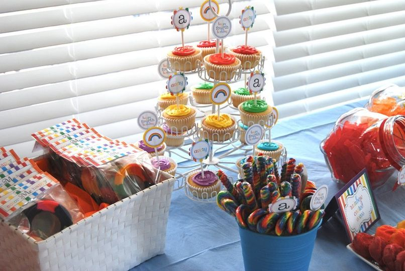 Candy Buffets:  candy, cupcakes, suckers, dots, any type of candy will do.