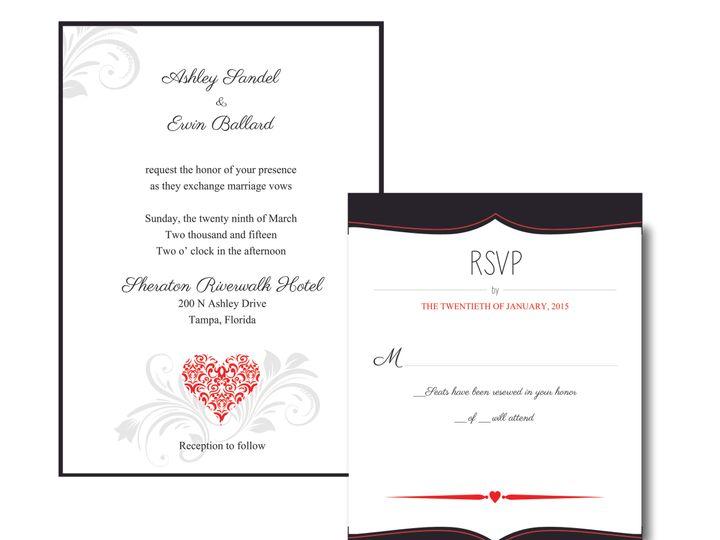 Tmx 1436835925695 Wedding Invite 3a Brandon wedding invitation