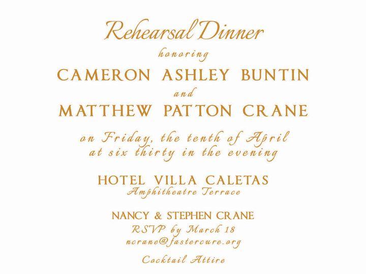 Tmx 1437012899139 688191 Crane Rehearsal Invite2 Brandon wedding invitation