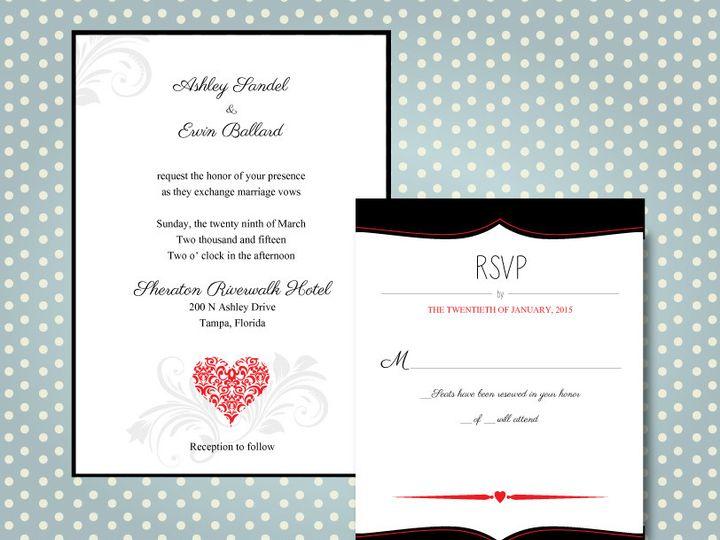 Tmx 1437012919448 Wedding Invite 3a Brandon wedding invitation