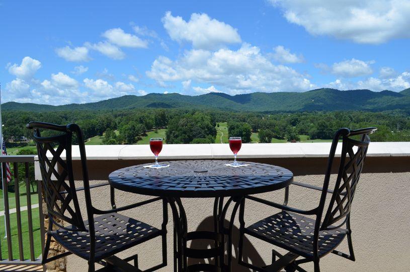 Having wine outdoors