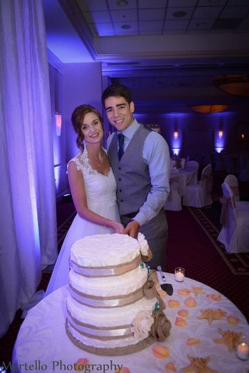 Free cake cutting and service included in all  of our wedding packages!