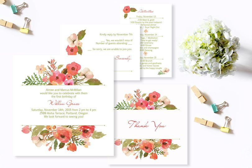 Pretty Things Invitations Eugene Or Weddingwire
