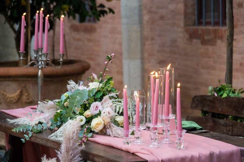 Boho/Romantic table setting
