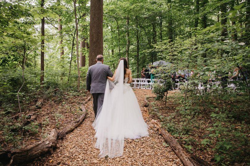 LA Birdie Bride & Father walk