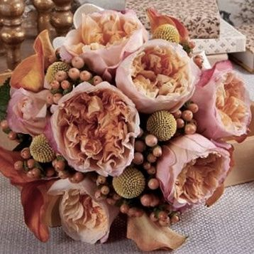 Spray roses in boho style