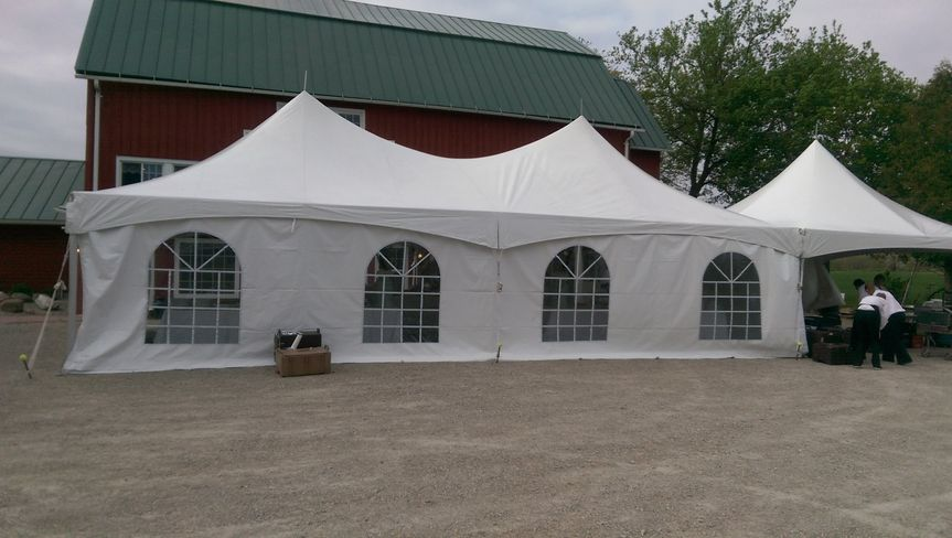 Tent exterior with sides