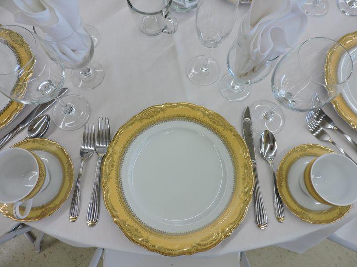 White antique gold rim china