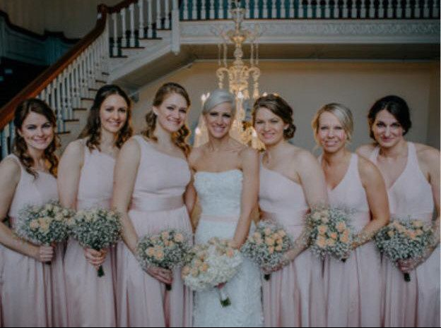Bridesmaids and the bride
