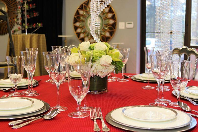 Bone china table setting