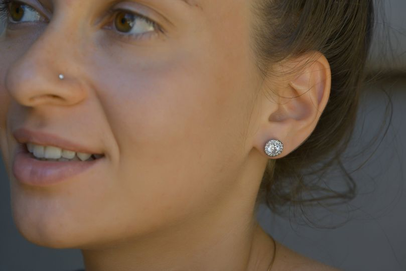 Our fancy pave earrings