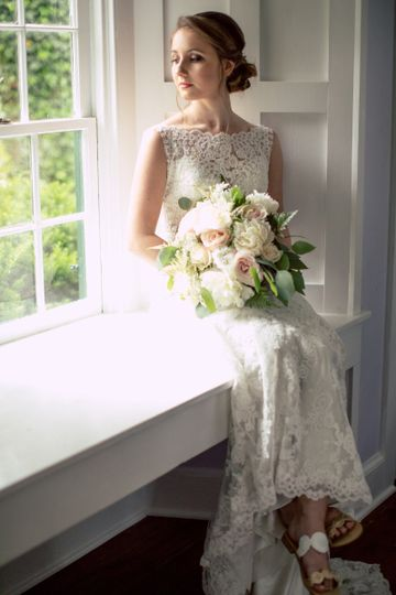 Bride on the window sill