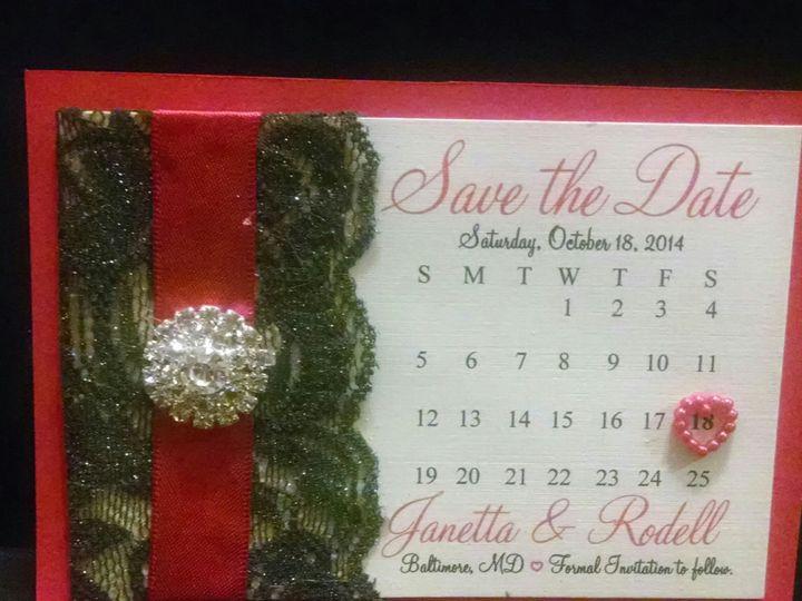 Tmx 1401027039544 Janetta Save The Dat Baltimore wedding invitation