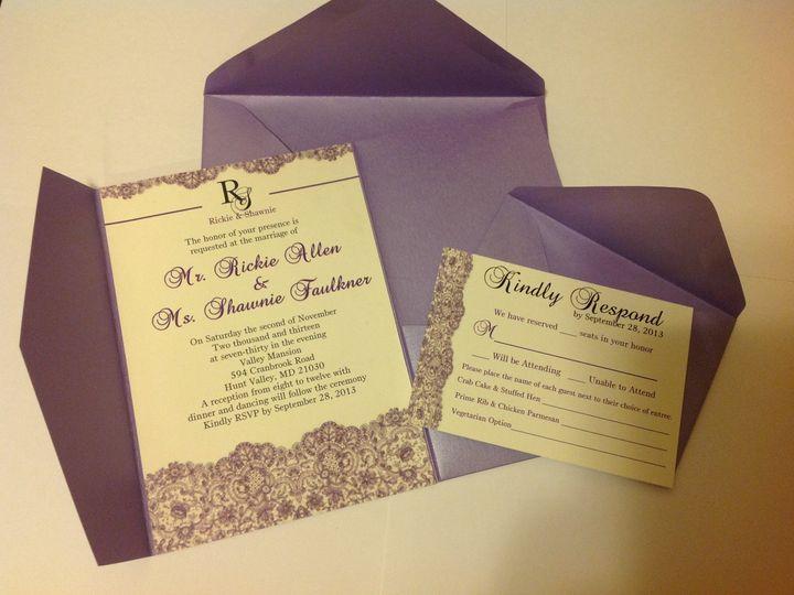 Tmx 1401027438604 Shawnie Layere Baltimore wedding invitation