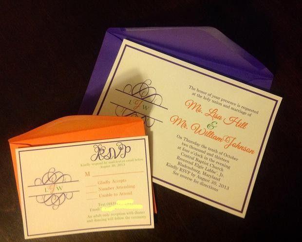 Tmx 1401027455646 Hill.johnson Invitation Baltimore wedding invitation