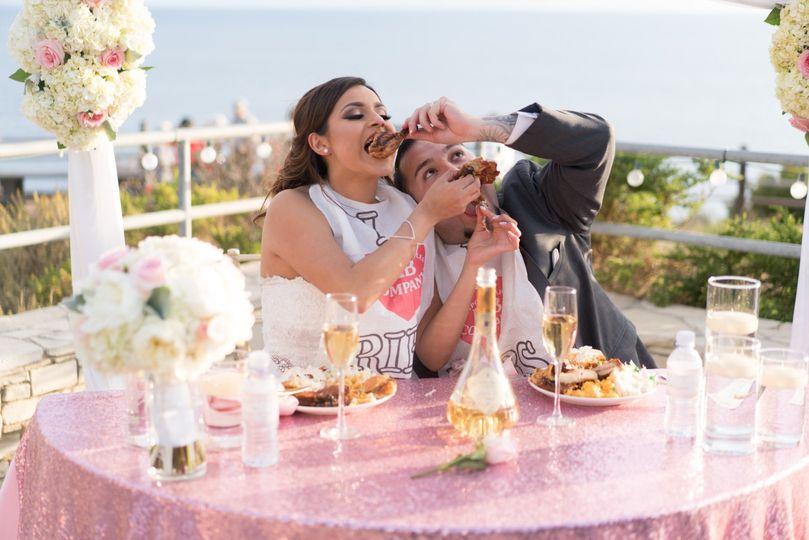 wedding couple with bibs 51 1901425 158136828038372