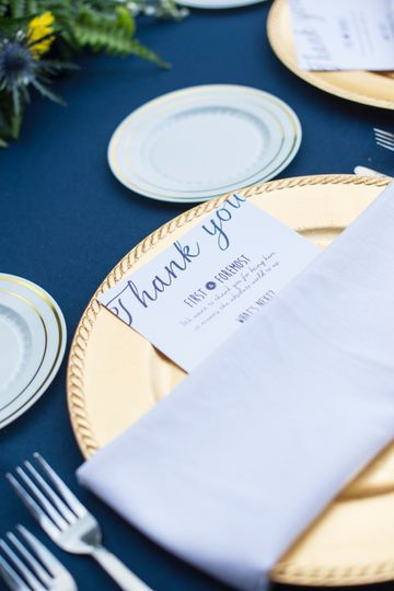 Thank you card for guests
