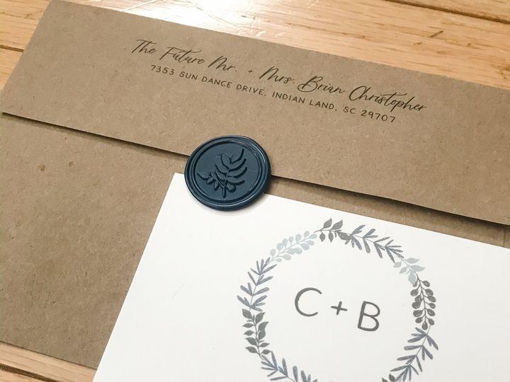 Tmx Casey Brian Invitation And Envelope Lad 51 1061425 158119141284722 Statesville, NC wedding invitation