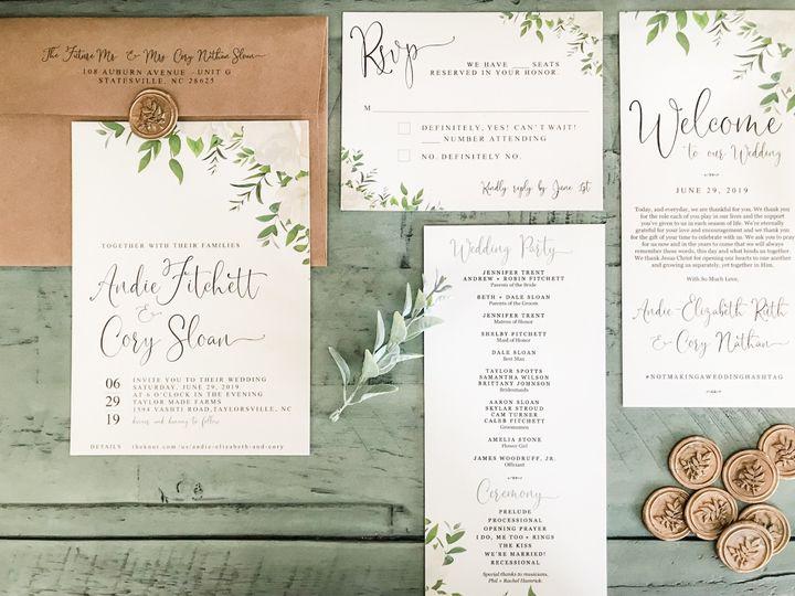 Tmx Cory Andie Invitation Program 51 1061425 158119141521131 Statesville, NC wedding invitation