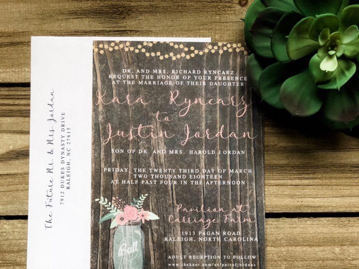 Tmx Kara 2 51 1061425 1560952194 Statesville, NC wedding invitation