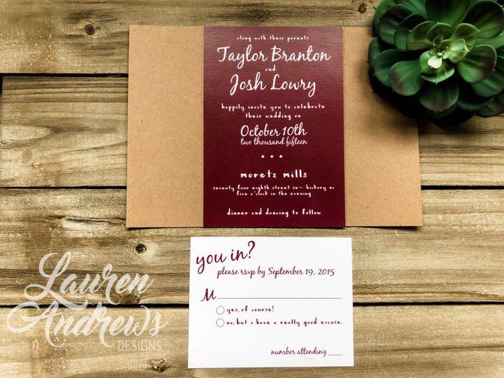 Tmx Taylor 51 1061425 1560952179 Statesville, NC wedding invitation