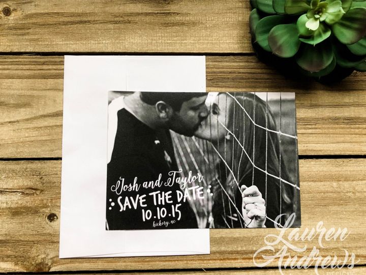 Tmx The Josh Save The Date 51 1061425 1560952184 Statesville, NC wedding invitation