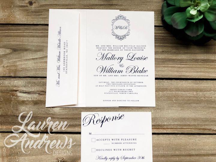 Tmx The Mallory 51 1061425 1560952184 Statesville, NC wedding invitation