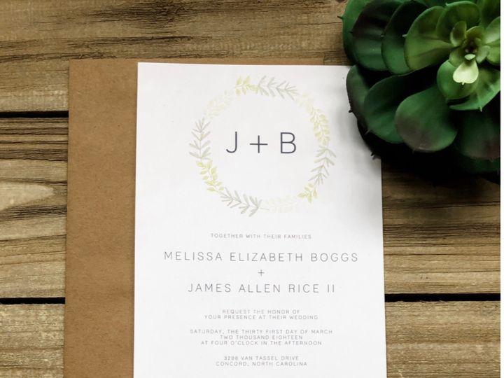 Tmx The Melissa 51 1061425 1560952187 Statesville, NC wedding invitation