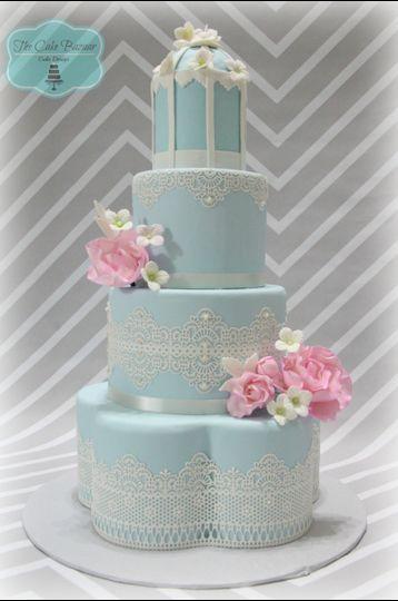 vintage bird cake logo 16