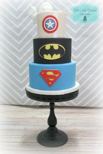 superheros cake 2016