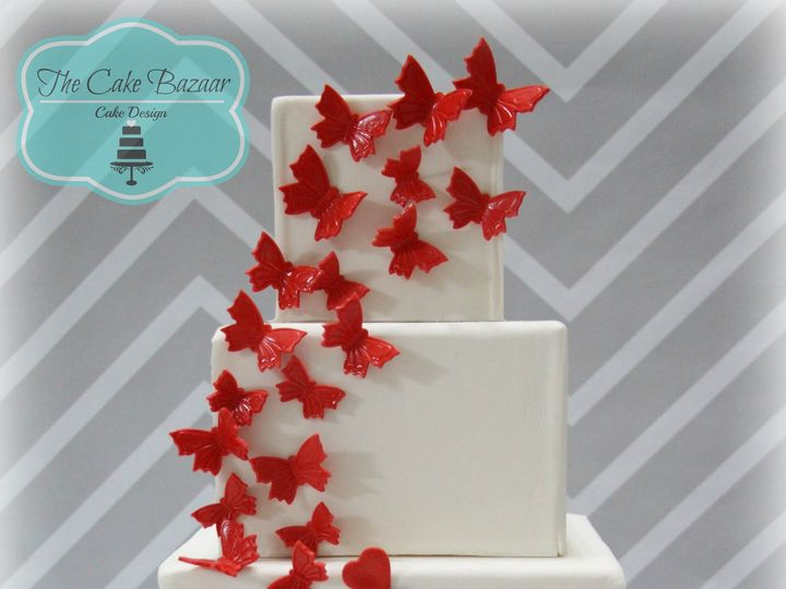 Tmx 1468254104344 Red Bf Couple Cake Logo 16 Pharr wedding cake