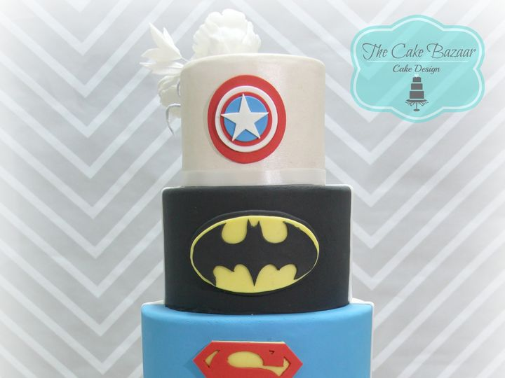 Tmx 1468254130693 Superheros Cake 2016 Pharr wedding cake