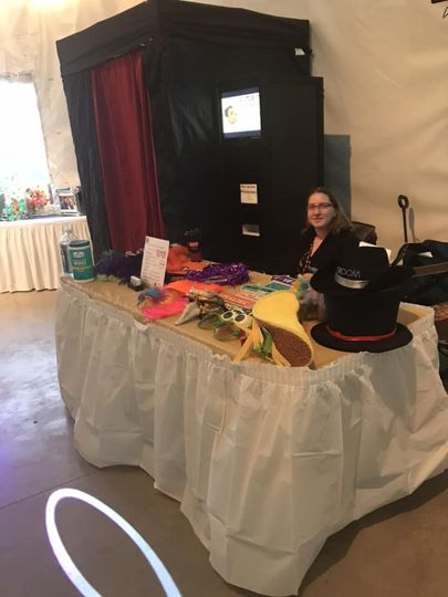 Set-Up of Photo Booth