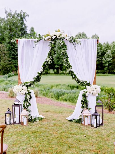 Romantic outdoor arch
