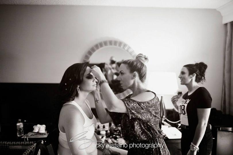 angela make up shot in action