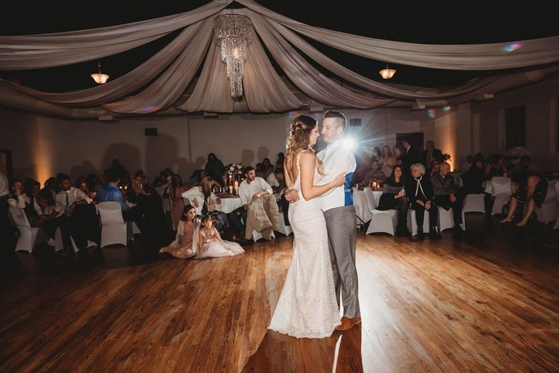 Romantic ballroom dance