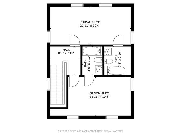 Bridal Suites Floor Plan