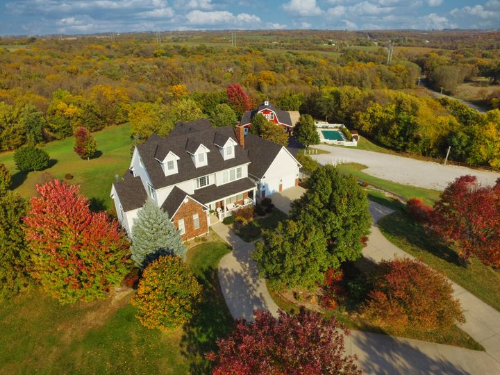 Aerial of the homestead