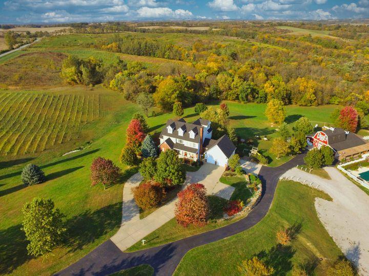 Aerial of the farm