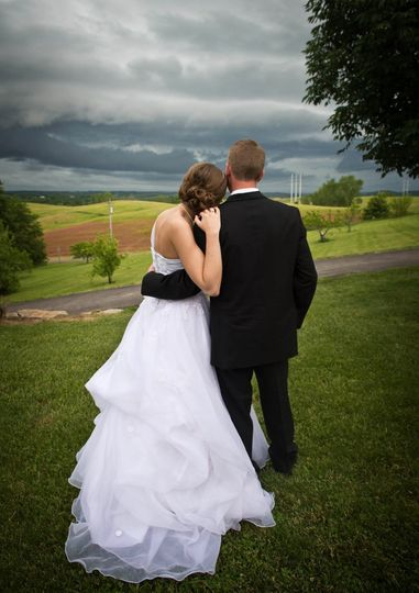 Newlyweds enjoying the view