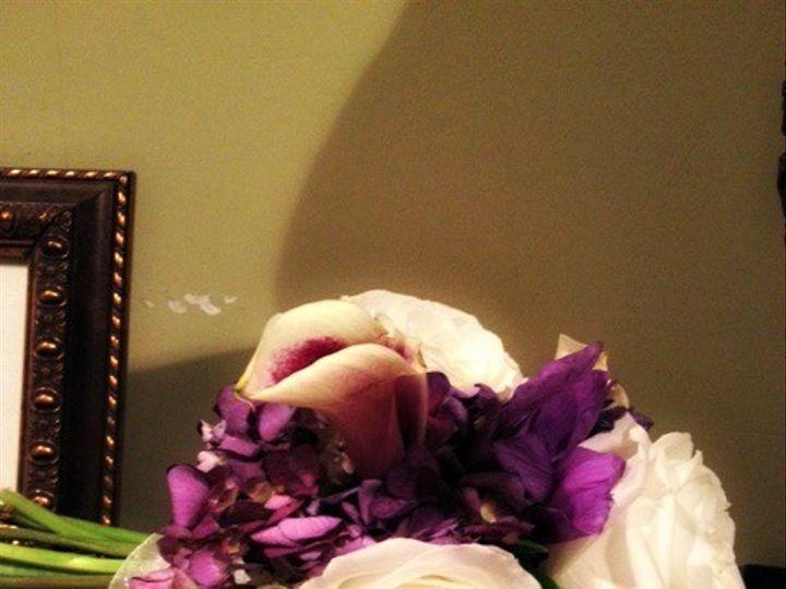 Tmx 1395518396904 Purple And White Brides Bouquet Pearl wedding florist