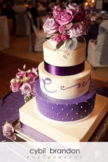 Purple and white cake
