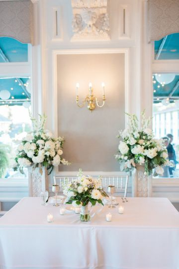 Head table in the white lion room -thompson photography group