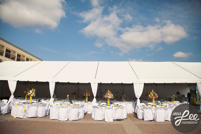 Patio Reception with Tent