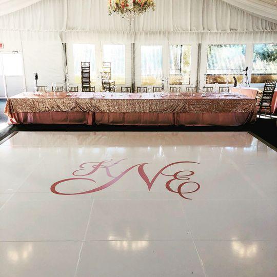 Dance floor cover parquet