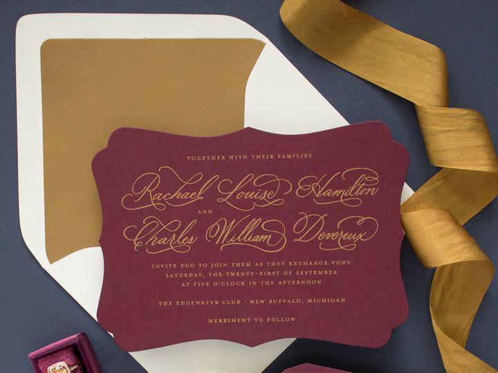 Tmx 1497783172429 Cherishedvertical Saint Joseph, MI wedding invitation