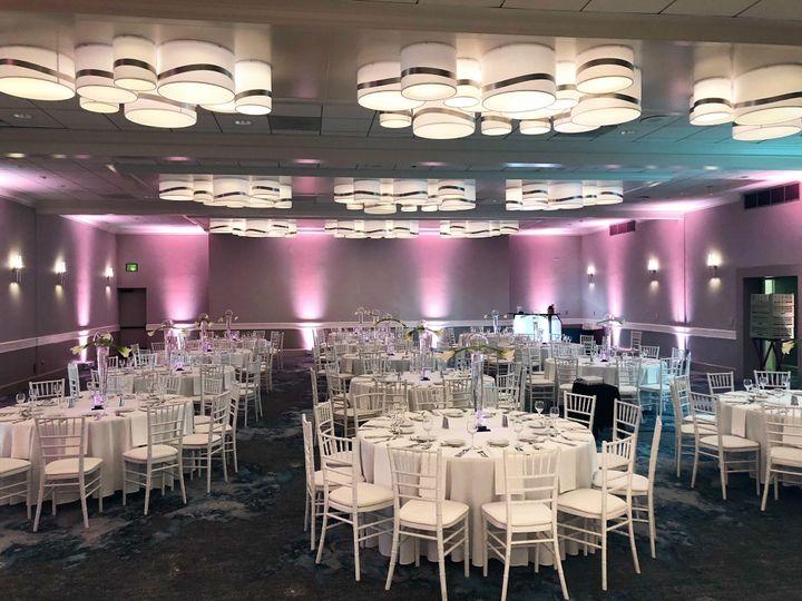 Wedding reception in plaza ballroom
