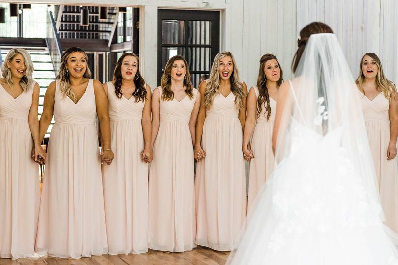 Swooning bridesmaids