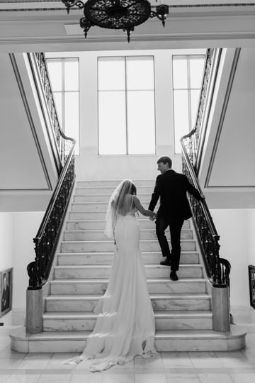 Elegant marble staircase